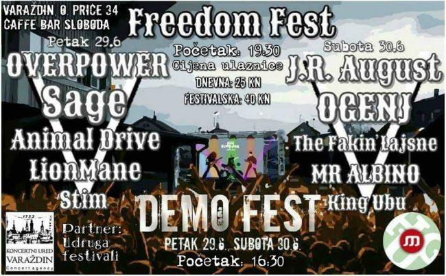 Freedom fest demo fest koncept