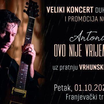 """Veliki koncert Antonia Tkaleca """"Ovo nije vrijeme predaje"""" u Varaždinu."""